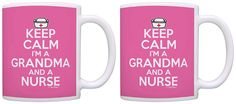 Nursing Gifts Keep Calm I'm a Grandma and a Nurse RN Gifts 2 Pack Gift Coffee Mugs Tea Cups Pink -- More info could be found at the image url. (This is an affiliate link and I receive a commission for the sales)