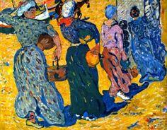 Louis Valtat (French:1869 – 1952)   Women Carrying Water Louis Valtat - 1897