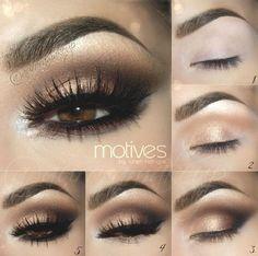 DIY Makeup Tutorials : Gold Smokey Eye | Eyeshadow For Brown Eyes | Makeup Tutorials Guide