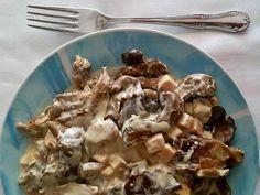 Seafood Appetizers, Meat, Chicken, Kuchen, Mushroom Gravy, Mushroom Sauce, Custard, Food, Bon Appetit