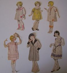 Spare Time (For Sewing): Children Paper Dolls from the 1920's