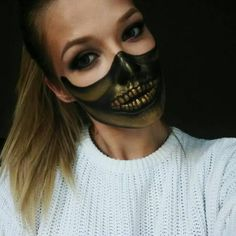 Awsome Makeup Idea for Halloween  Makeup by @j.alex.makeup