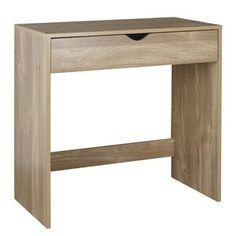 Zipcode Design Wilma Desk | Wayfair.co.uk Office Furniture Design, Home Office Design, Retro Desk, Ikea, Floating Desk, Large Desk, Secretary Desks, Wood Desk, Lounge