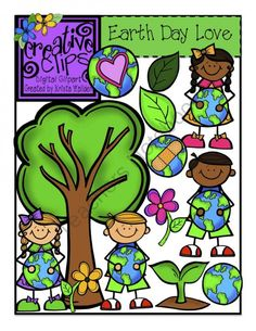 $ Earth Day Clipart