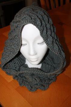 Handmade Crochet Dragon Scale Hood / by StargazerHandcrafted, $50.00