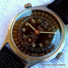 Vintage Triple Date Calendar Oversize Landau Gents Watch   [3]