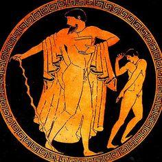 Scena di danza su ceramica a figure rosse, 480 a.C.