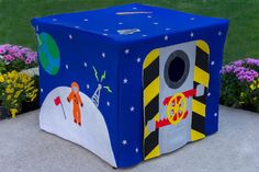 What fun this would be in a playroom! Outer Space Card Table by missprettypretty.