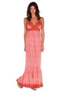 Twelfth Street By Cynthia Vincent Womens Empire Maxi Dress with Ruffle $132.00
