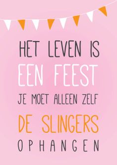 het leven is een feest | join the party! | free printable poster | Nelleke Wouters | gratis poster