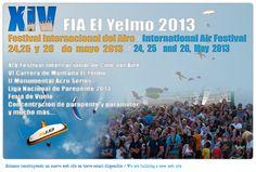 Locos por el Parapente publica el cartel oficial  de El Yelmo 2013. La cita para aficionados y profesionales del parapente y el paragliding será este año el 24, 25 y 25 de mayo.