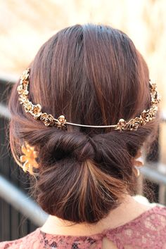 Boho Hair styling with headpiece/tiara – MODE DELINA