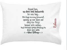 Walt Disney Quote Personalized Gift Girl Boy Teen Toddler Adult Inspirational adult pillowcase pillowcase gift ships in under 48 hrs