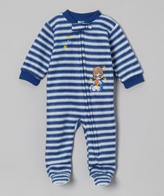 Snuggly soft and adorably designed, this fleecy footie is just what little lovebugs need to cuddle and crawl the day away. Packed with practical features, it boasts a full zipper with protective tab and textured soles to keep teensy feet from slipping.