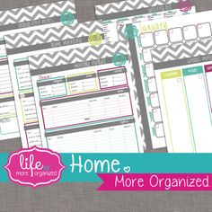 Home. More Organized.  Home Management Binder by lifemoreorganized, $25.00