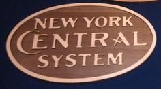 This is the new york central herald we have this one available right now at www.mdtrains.com Train Decorations, New York Central, Trains, Train