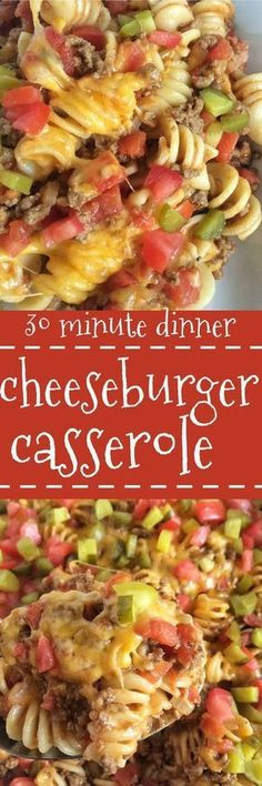Cheeseburger Casserole - a quick, 30-minute meal that is kid-approved and so cheesy. : togetherasfamily