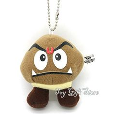 10 Pcs New Super Mario Bros Plush Doll Stuffed Toy Keychain Goomba 3 @ niftywarehouse.com