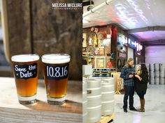 Portland brewery Engagement session - photos with craft beer!   Melissa McClure Photography