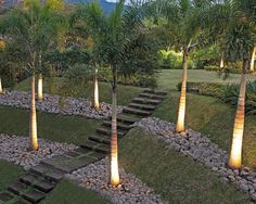 Tropical Landscape Design, Pictures, Remodel, Decor and Ideas - page 7 Landscaping A Slope, Tropical Landscaping, Landscape Design, Garden Design, Sloped Yard, Tropical Houses, Tropical Paradise, House Design Photos, Exterior Lighting