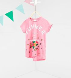 Image 1 of Floral T-shirt from Zara