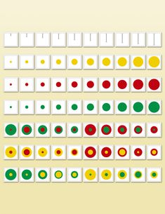 Cylinder Diameter Cards | Montessori Research and Development