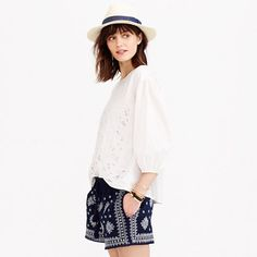 summer eyelet top | #shopping