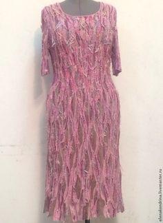"""Платья ручной работы. Ярмарка Мастеров - ручная работа Платье """"Розовое счастливое"""". Handmade."""