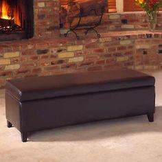 hartford bonded leather storage bench - Leather Storage Bench