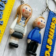 Bagcharm Polymer clay caricature