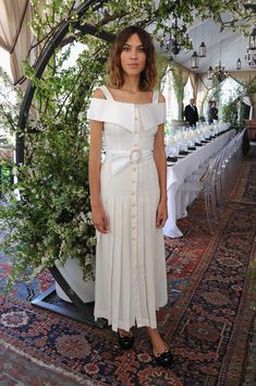Alexa Chung in Alessandra Rich - Piaget Celebrates Its New Possession Collection - May 14, 2015