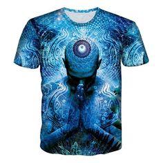 3D Print Pouring Milk Toward Night Sky T-Shirt Men Women Casual Short Sleeve
