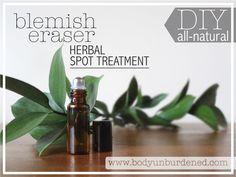 DIY all-natural blemish eraser herbal spot treatment