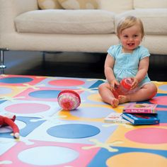 A much nicer alternative to most rubber play mats...