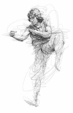 Drunken Master Jackie Chan done in Ball Point illustration