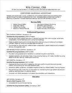 Want To Prepare An EyeCatching Certified Nurseaidresume Mednoc