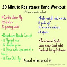 20 minute Vacation Resistance Band Workout