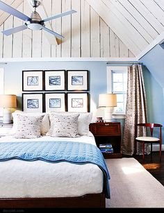 Love how the walls are cream yet rustic! That's exactly the finish I want for my headboard!