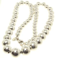 Tiffany Beads Graduated Necklace