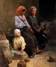 """Farm Family"" -- copyright Mian Situ (b.1953, Chinese)"