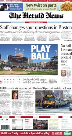 The front page of The Herald News for Wednesday, April 6, 2016.