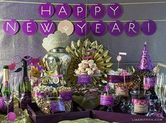 New Years Eve: Free Party Printables by Lia Griffith