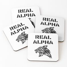 'Real Alpha - pack leader' Coasters by RIVEofficial Alpha Pack, Pin Pin, Coaster Set, Happy Shopping, Cool T Shirts, Funny Tshirts, Cool Pictures, Online Shopping, Unique Gifts