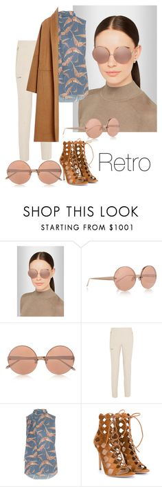 """Retro#2"" by melisaadriana ❤ liked on Polyvore featuring Linda Farrow, Chloé, Valentino, Gianvito Rossi, Alberta Ferretti, women's clothing, women, female, woman and misses"