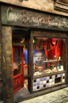 Miniature Cafe. I really like the tile on the front and the stained glass in the window