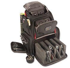 NRA Handgunner Backpack transports 4 pistols and plenty of range gear.