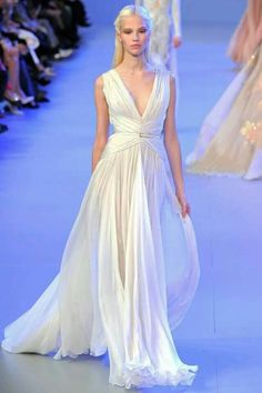 Greek inspired couture Elie Saab SS 2014