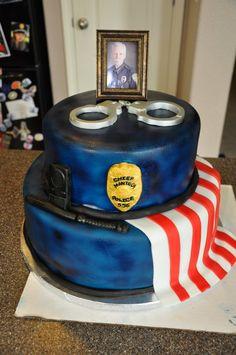 cop cake for when my BFF graduates!!!! Hmmmmmm
