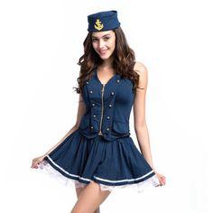 Womans Navy sailor halloween costumes vestido disfraces adultos medieval dresses victorian fancy dress fantasias femininas Alternative Measures