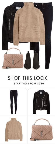 """Untitled #2944"" by elenaday on Polyvore featuring Closed, Acne Studios, Totême and Yves Saint Laurent"
